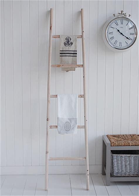 wooden towel ladder  tea towels   white lighthouse