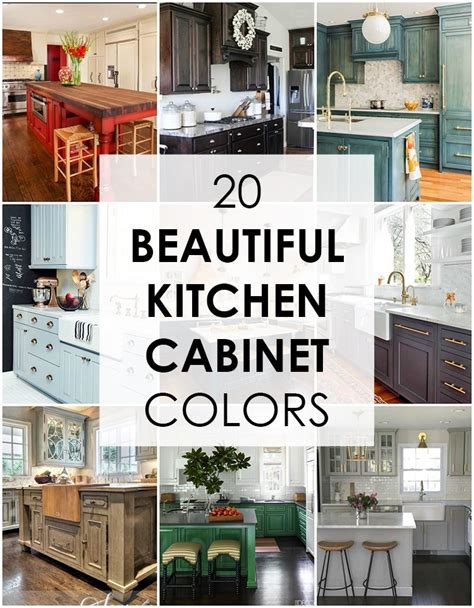 20 kitchen cabinet colors a blissful nest