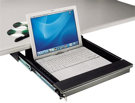 under desk computer tray tecnec under desk mount lockable laptop drawer for laptops