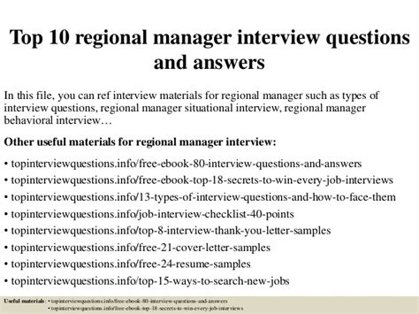 what is a cover letter for resume top 10 regional manager questions and answers 11275