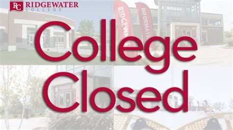 memorial day holiday college closed ridgewater college