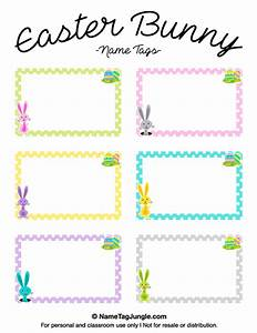 free printable easter bunny name tags the template can With easter name tags template