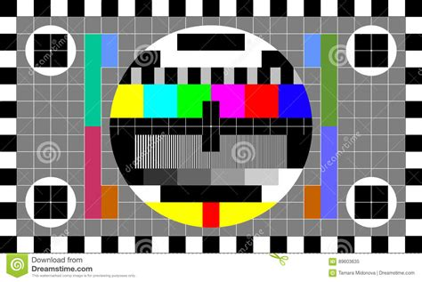 test image tv test image stock vector illustration of checked
