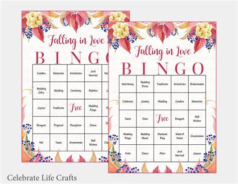 100 Falling In Love Wedding Bingo Cards Fall Bridal Shower