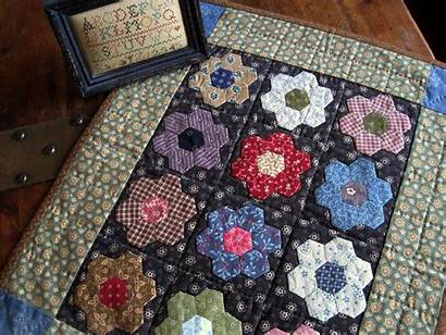 Quilt Quilts Antique Hexagon Doll Making Inspired