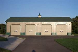 garages pole buildings garage builder pole barn With 4 bay pole barn