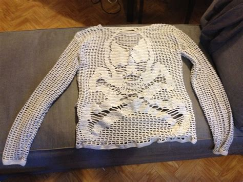 Crochet Skull, Filet Crochet And