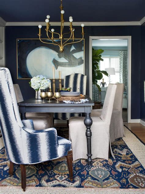 furniture photos hgtv blue gray dining room chairs blue