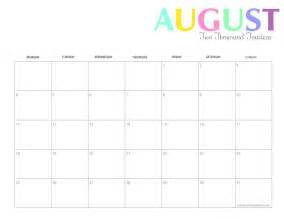 printable colorful  calendars  shining mom