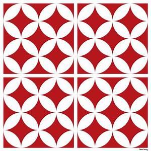 Carreaux De Ciment Rouge : sticker carreaux de ciment louison rouge ~ Melissatoandfro.com Idées de Décoration