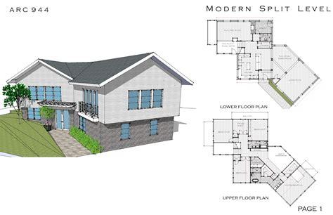 modern house plans split level   ideas home