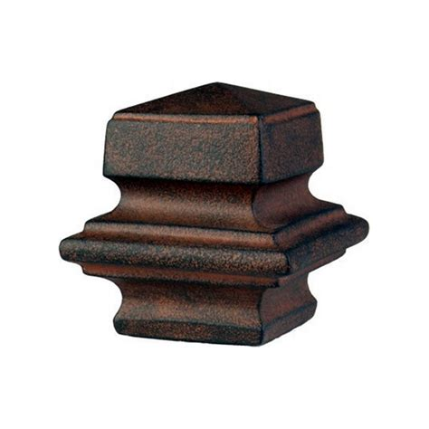 rust square finial for 25mm curtain rods buycurtainrod