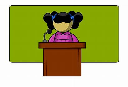 Clipart Speaker Student Speaking Clip Cliparts Clipground
