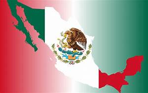 Clipart - Mexico Flag Map With Background