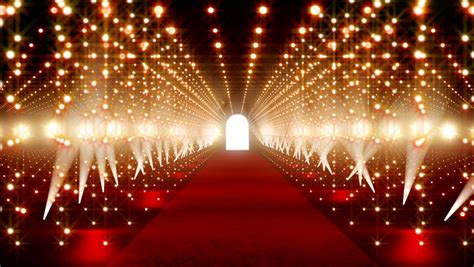red carpet festival scene animation stock footage video