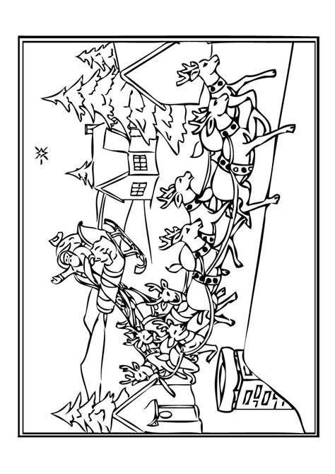 Coloriage Pere Noel Et Ses Rennes Artemiaorg