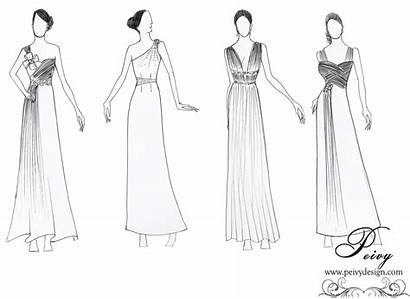 Sketsa Baju Desain Gambar Wanita Gaun Pesta