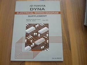 Toyota Dyna 220 230 250 Electrical Wiring Diagram Update