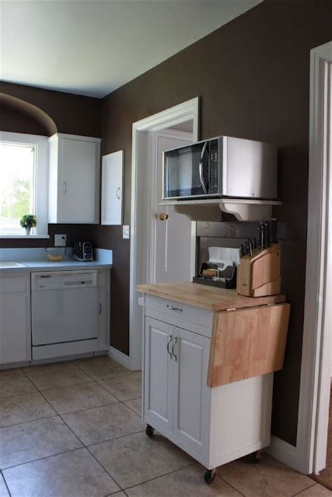 counter space small kitchen storage ideas 25 best ideas about microwave cart on small 9491