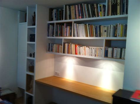 bibliothèque bureau intégré bureau bibliothèque sur mesure en chêne naturel mat bibliothèque bibliotheque