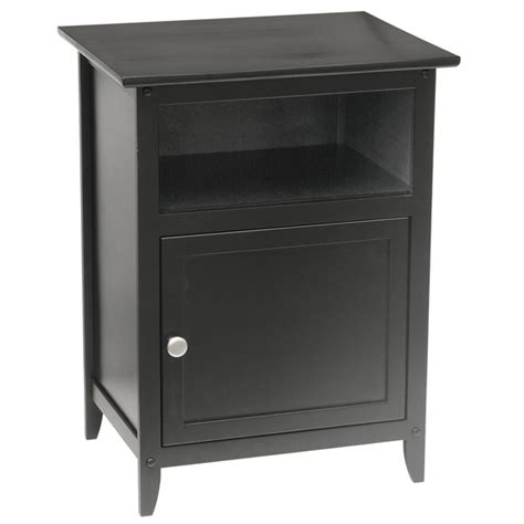 Beech Nightstand by Bedroom Furniture Beech Wood Nightstand In Black Finish