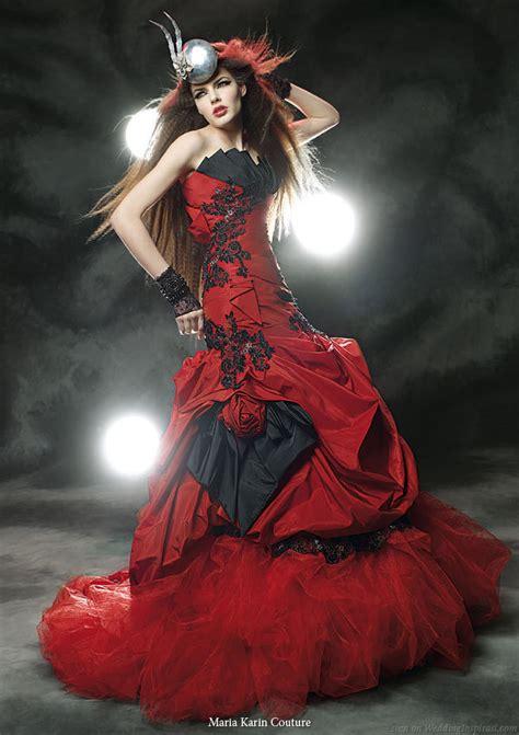 black  red wedding dresses design wedding dress