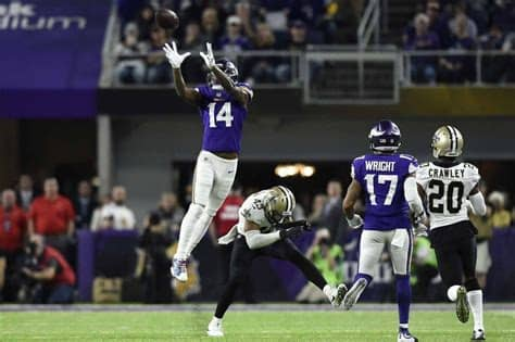 Stefon diggs (right) makes a fair catch on the penalty flag. Gamblers, Oddsmakers Let Out Collective Groan After ...