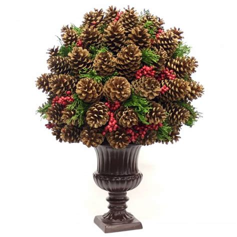 pine cone centerpiece christmas pinterest