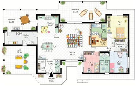 plan maison à étage 3 chambres demeure de plain pied dé du plan de demeure de plain