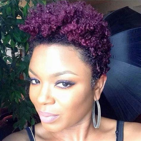 Natural Hair Dyed Purple Hair Pinterest Hair Dye