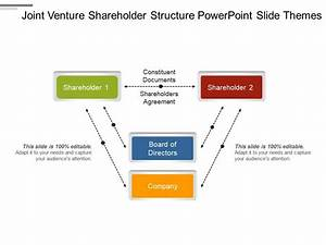 Joint Venture Shareholder Structure Powerpoint Slide Themes