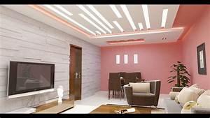 Decoration Faux Plafond : decoration salon faux plafond youtube ~ Melissatoandfro.com Idées de Décoration