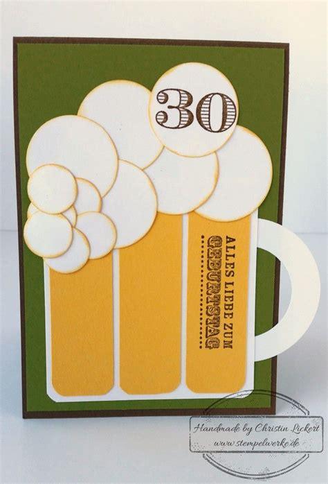 jahrestag geschenk für mann bierkarte bastelarbeiten geburtstag basteln mann