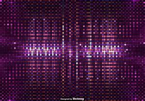 Vector Background Of Purple Led Lights