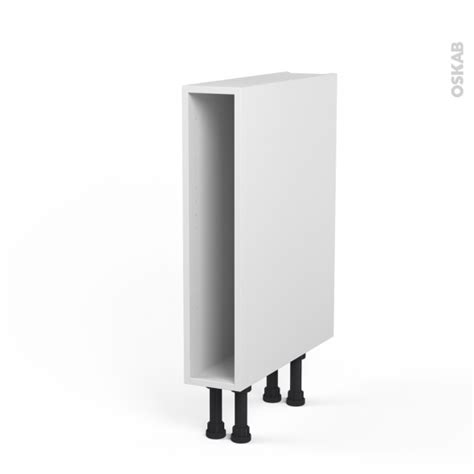 caisson cuisine 15 cm caisson bas n 3 meuble de cuisine l15 x h70 x p56 cm
