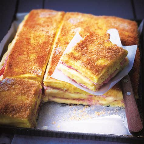 jeux de aux fraises cuisine croque monsieur de polenta jambon fromage d 39 eric fréchon facile et pas cher recette sur