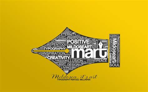 mart typography wallpaper v2 by milenist on deviantart