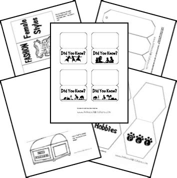 american girl lapbook templates  mini books