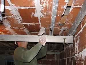 Crochet Mur Beton : pose placo plafond sur hourdis brique ~ Zukunftsfamilie.com Idées de Décoration