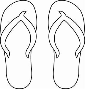 free coloring pages flip flops clipart best With flip flops