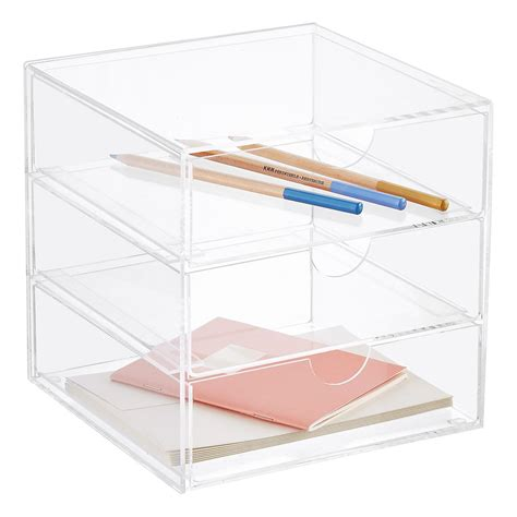 acrylic drawer organizer 3 drawer premium acrylic accessory box the container