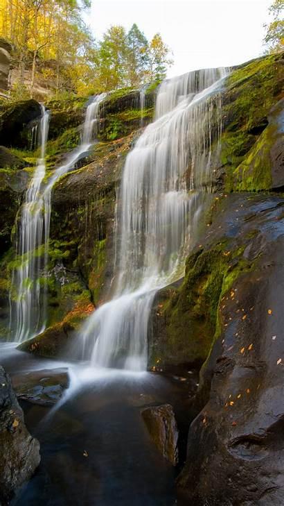 Waterfall Iphone Water Rock Unsplash Wallpapers Waterfalls