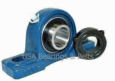 ucp    pillow block bearing  double split shaft collar solid foot  ebay