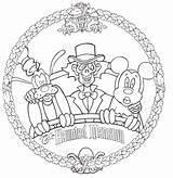 Coloring Disney Halloween Haunted Mansion Printable Magic Disneyland Walt Kingdom Larger Version Clipart sketch template