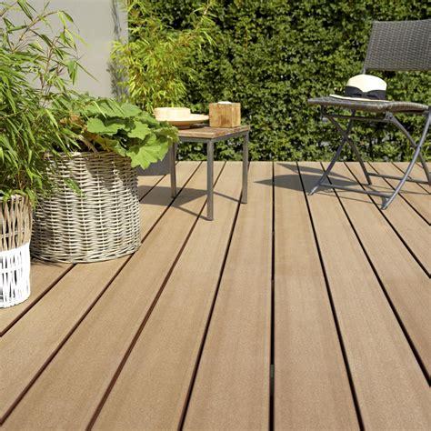 terrasse composite leroy merlin planche composite saga naterial brun l 240 x l 15 cm x ep 23 mm leroy merlin