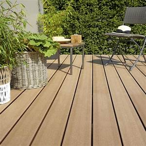 Lame Composite Pour Terrasse Leroy Merlin : planche composite saga naterial brun x cm x ~ Zukunftsfamilie.com Idées de Décoration