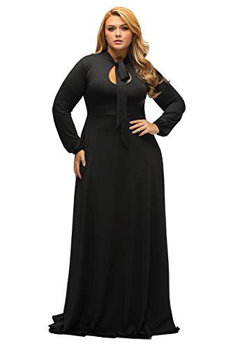 Lalagen Womens Vintage Long Sleeve Plus Size Evening