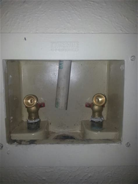 pipe coming   washer dryer box