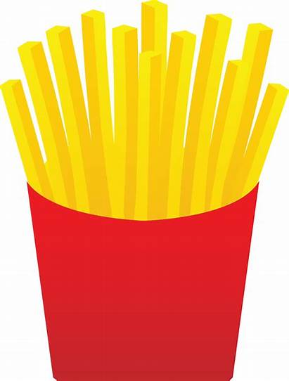 Fries French Clip Fast Golden Carton Sweetclipart