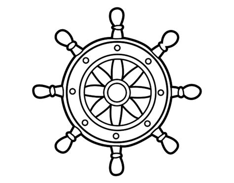 Boat Steering Wheel Coloring Pages